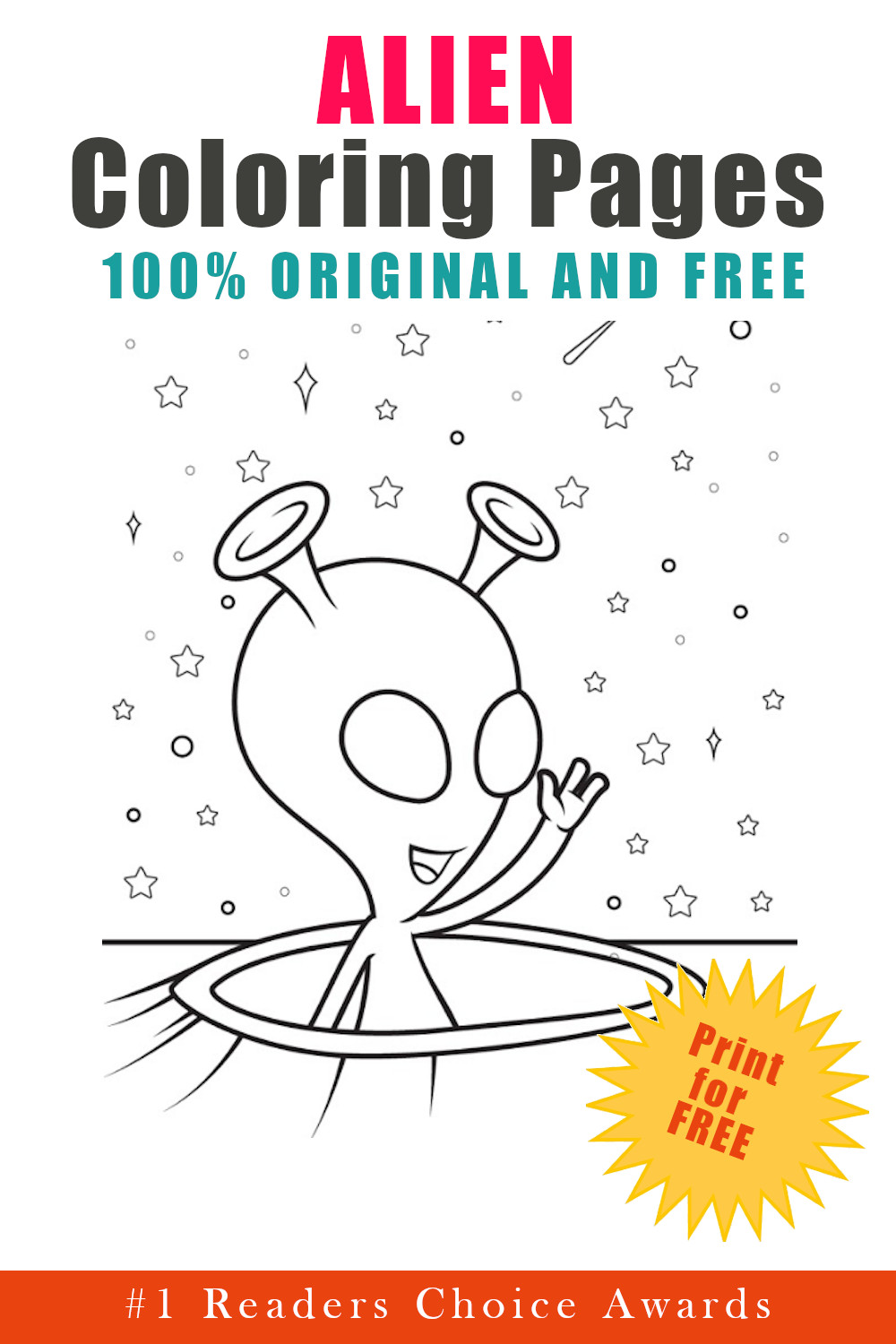 original and free alien coloring pages