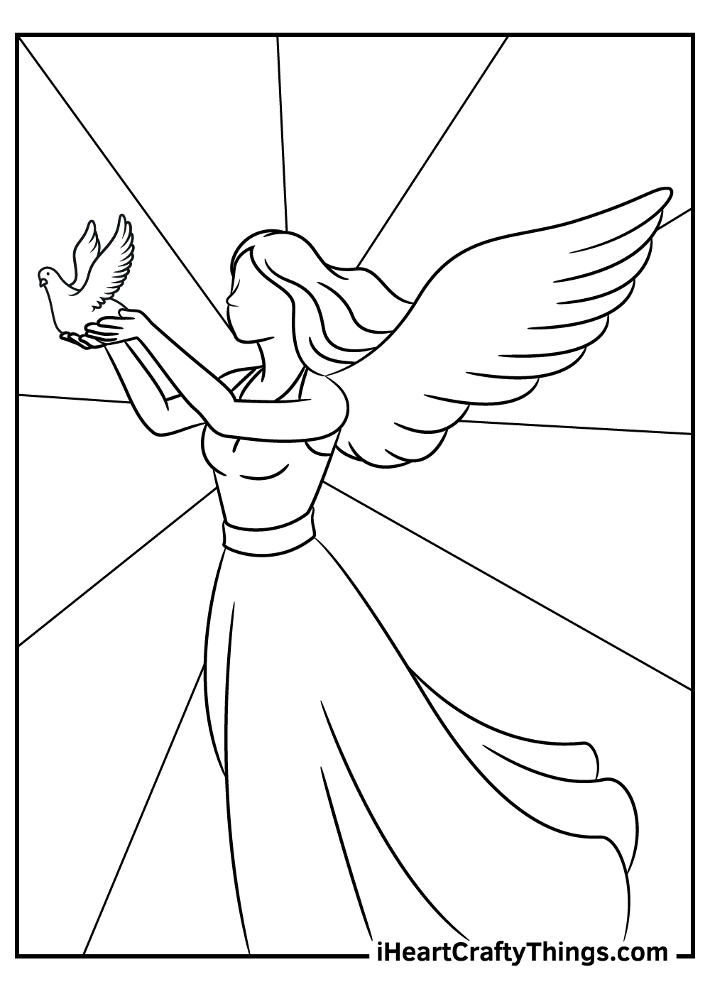 free angels coloring pages