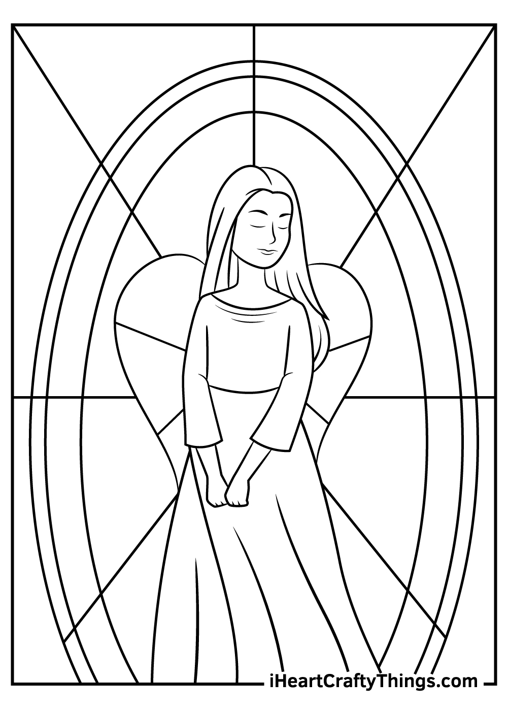 free printable angels coloring pages
