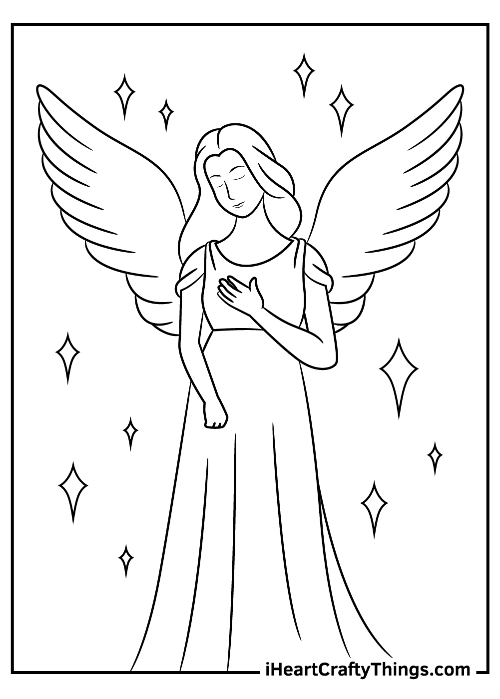 free angels coloring pages for kids