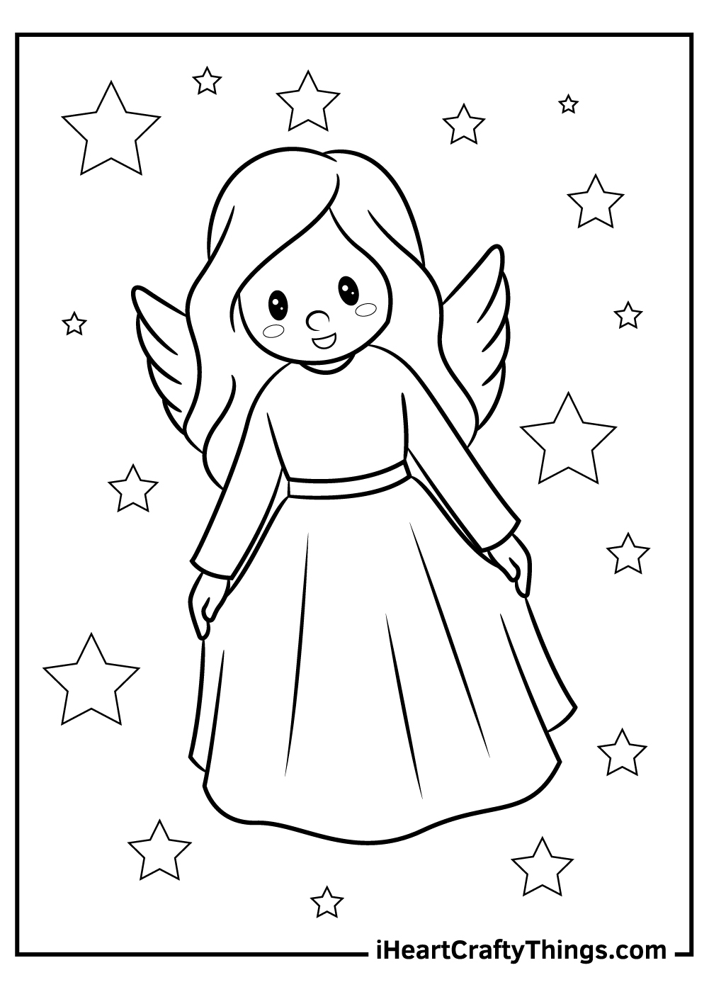 little angels coloring pages free download