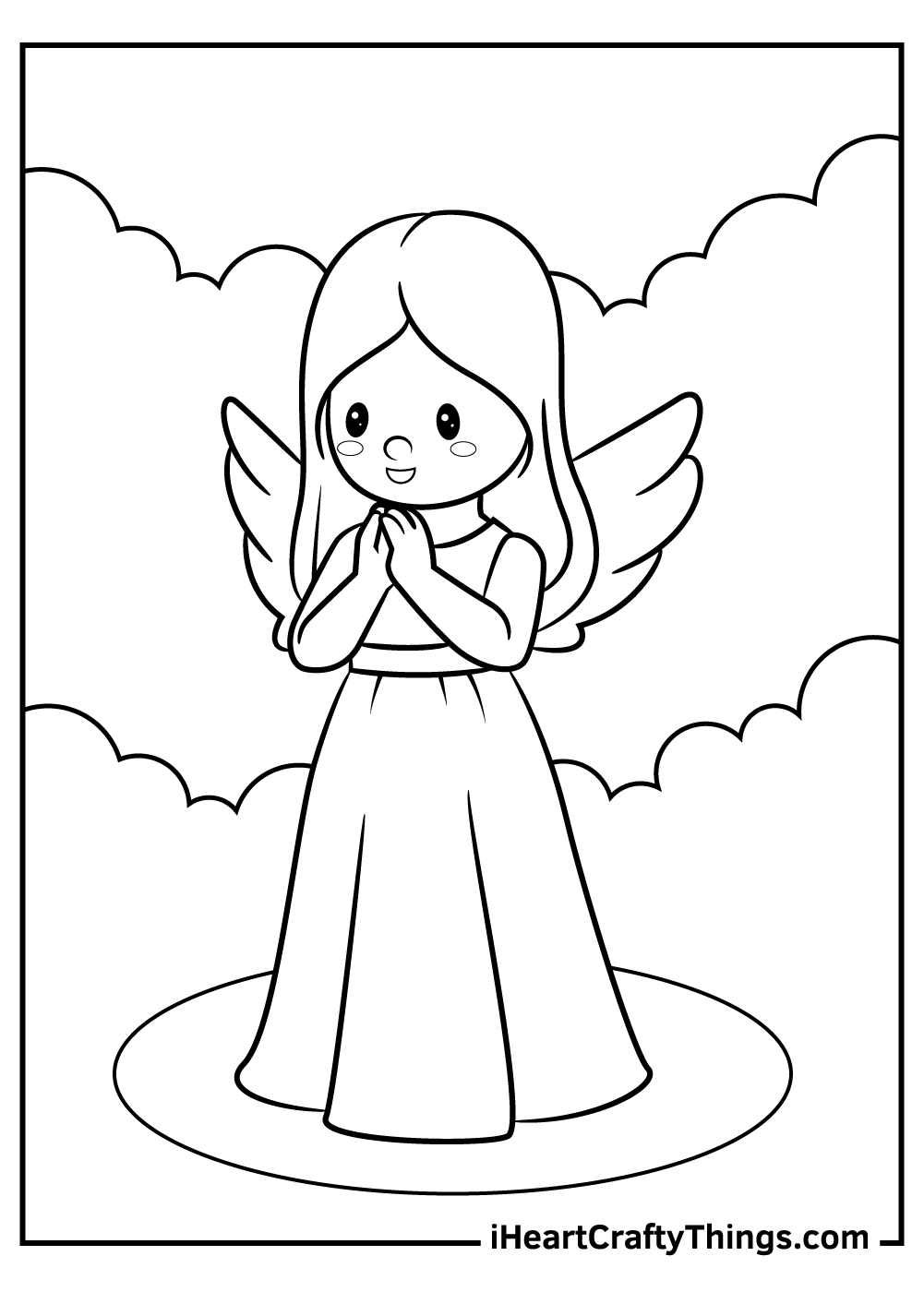 female angels coloring pages download pdf