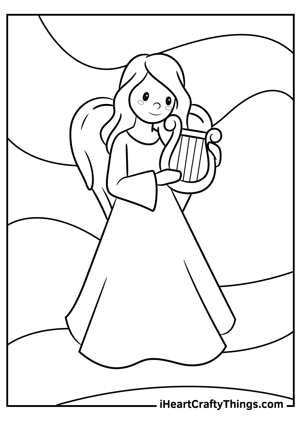 gothic angels coloring pages download