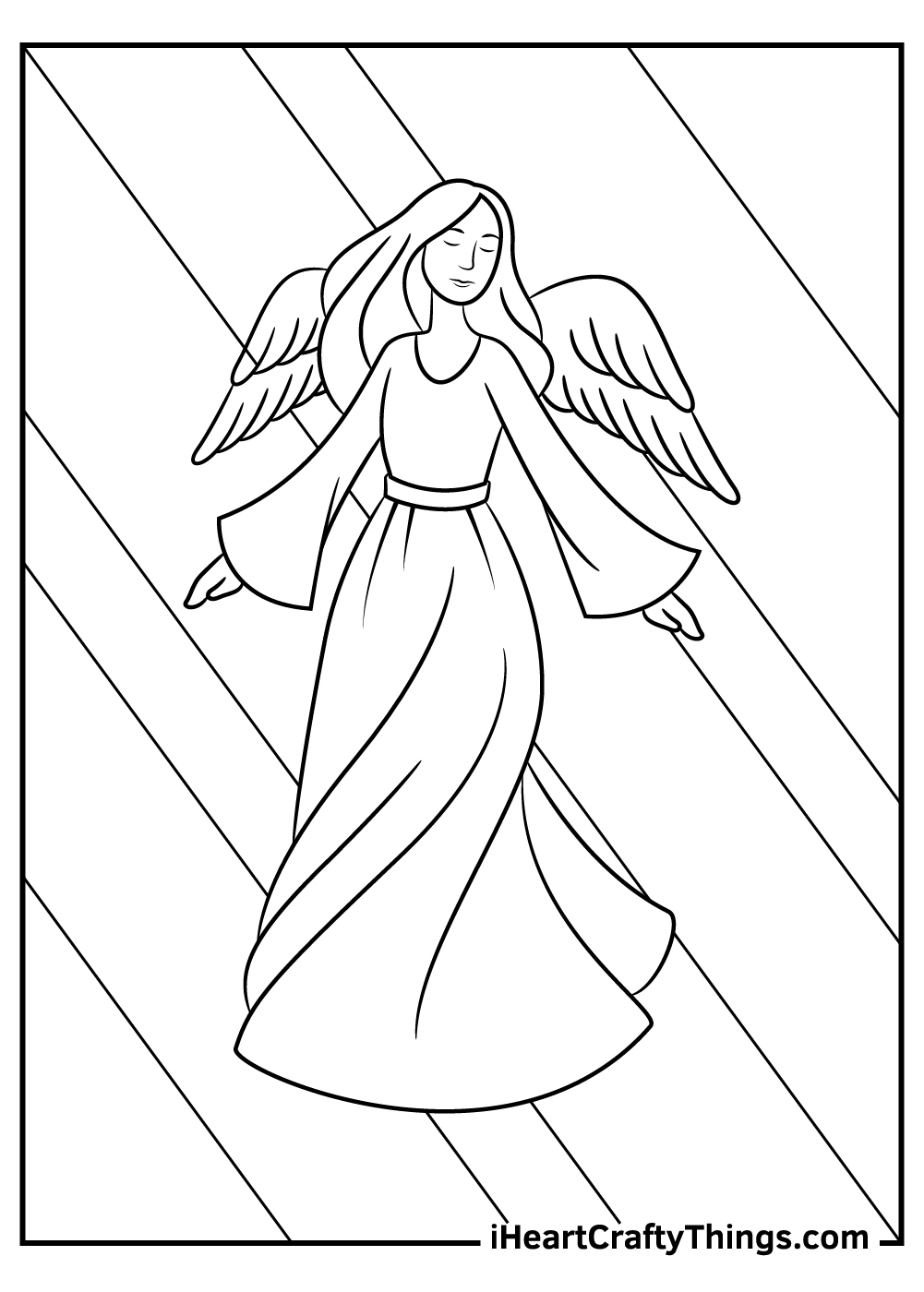 girl angels coloring pages free printable