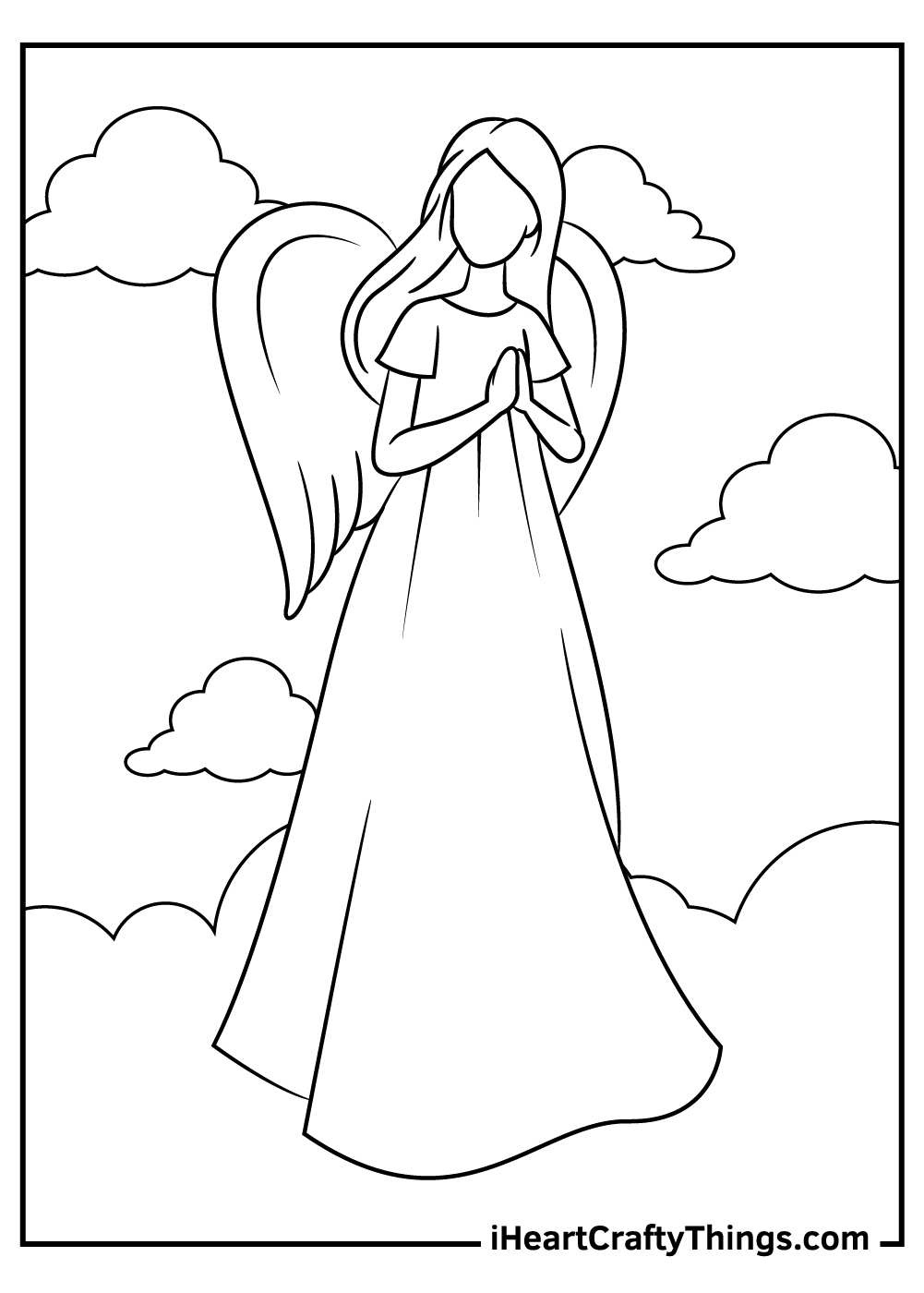 free religious angels coloring pages