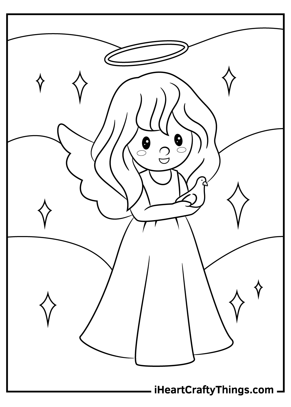 singing angels coloring pages