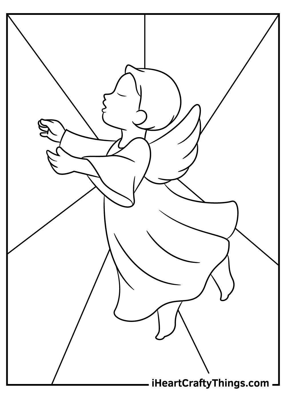 singing angels coloring pages download