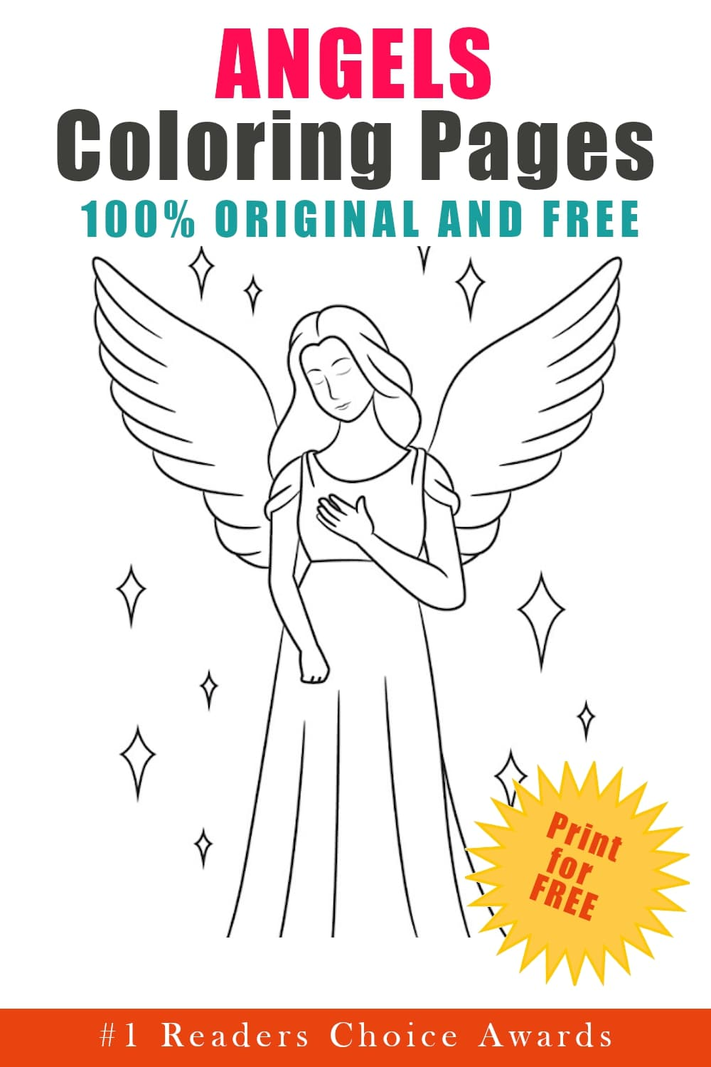 original and free angels coloring pages