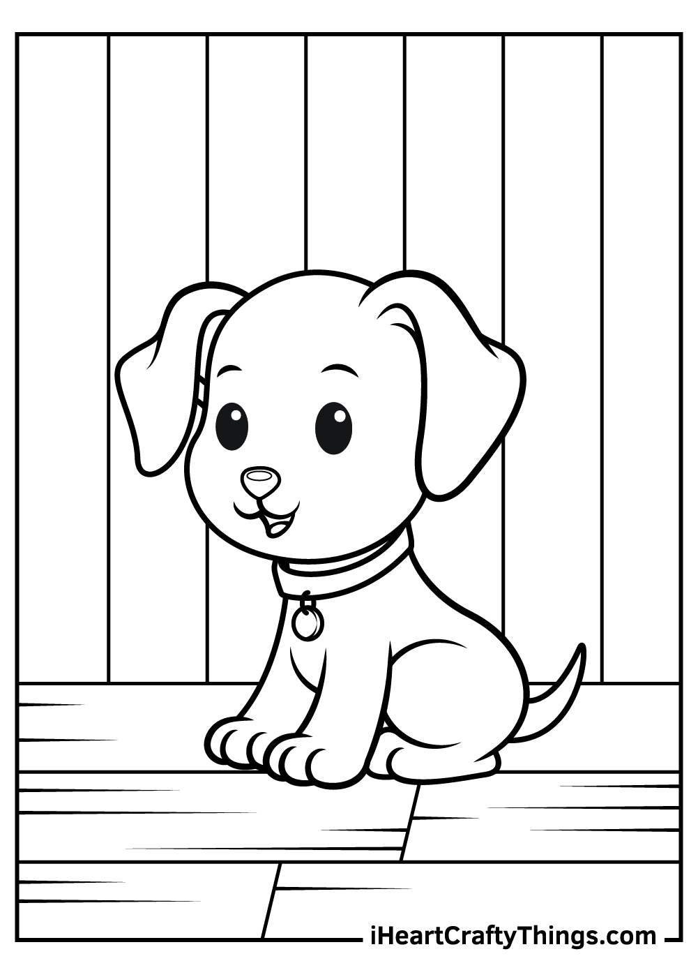 cute puppy free coloring pages