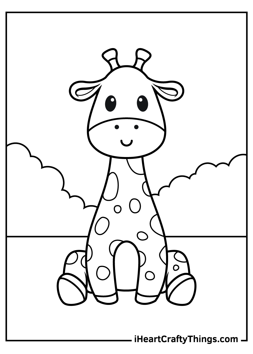 cute baby giraffe free coloring pages