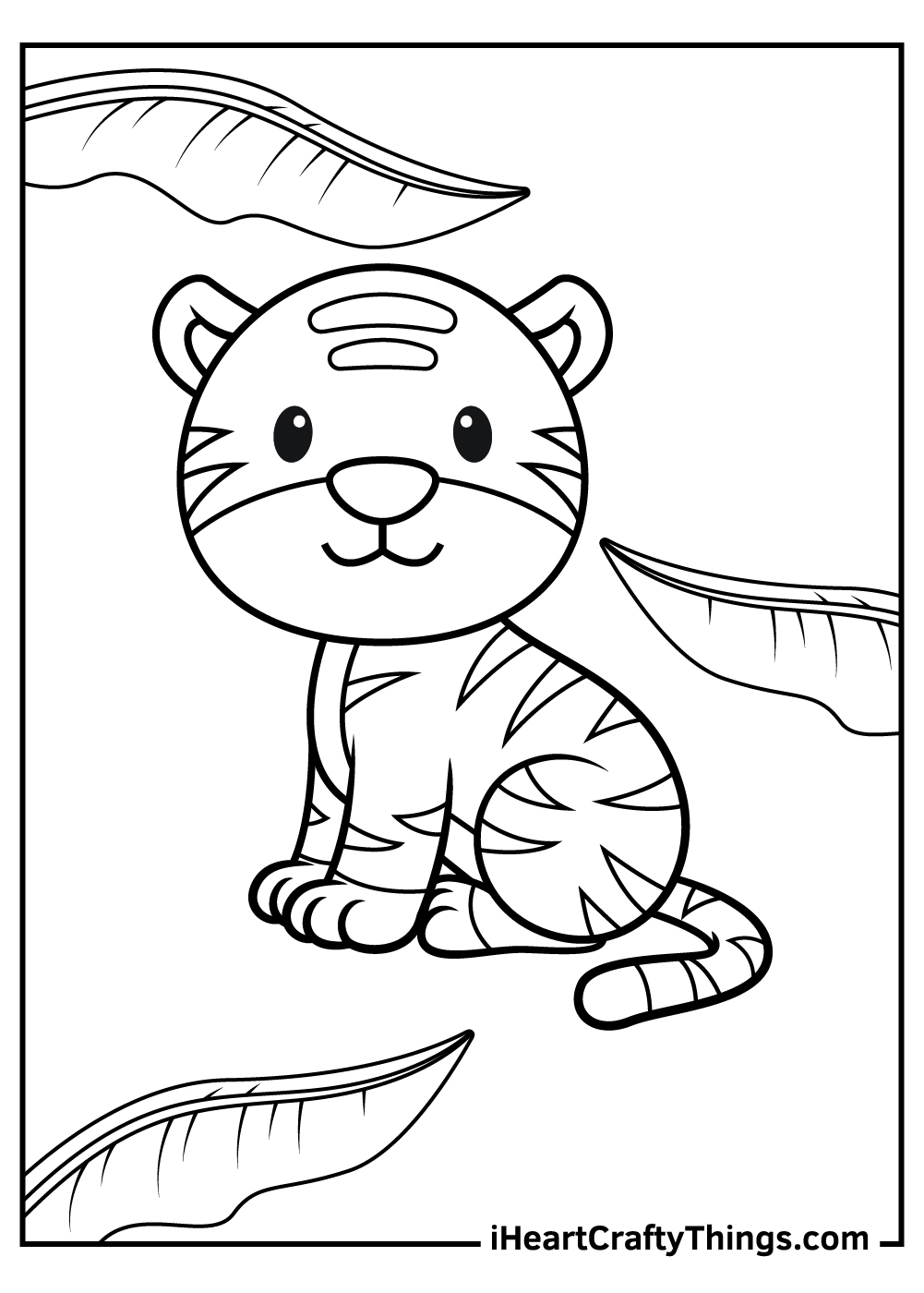 cute baby tiger free coloring pages
