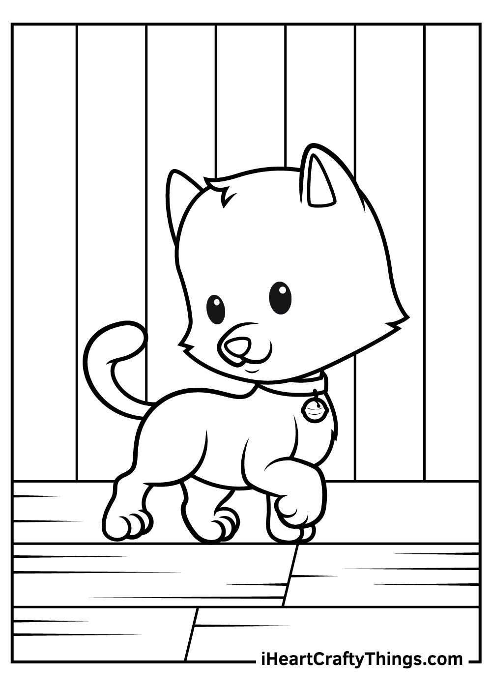 cute kitten coloring pages free printable