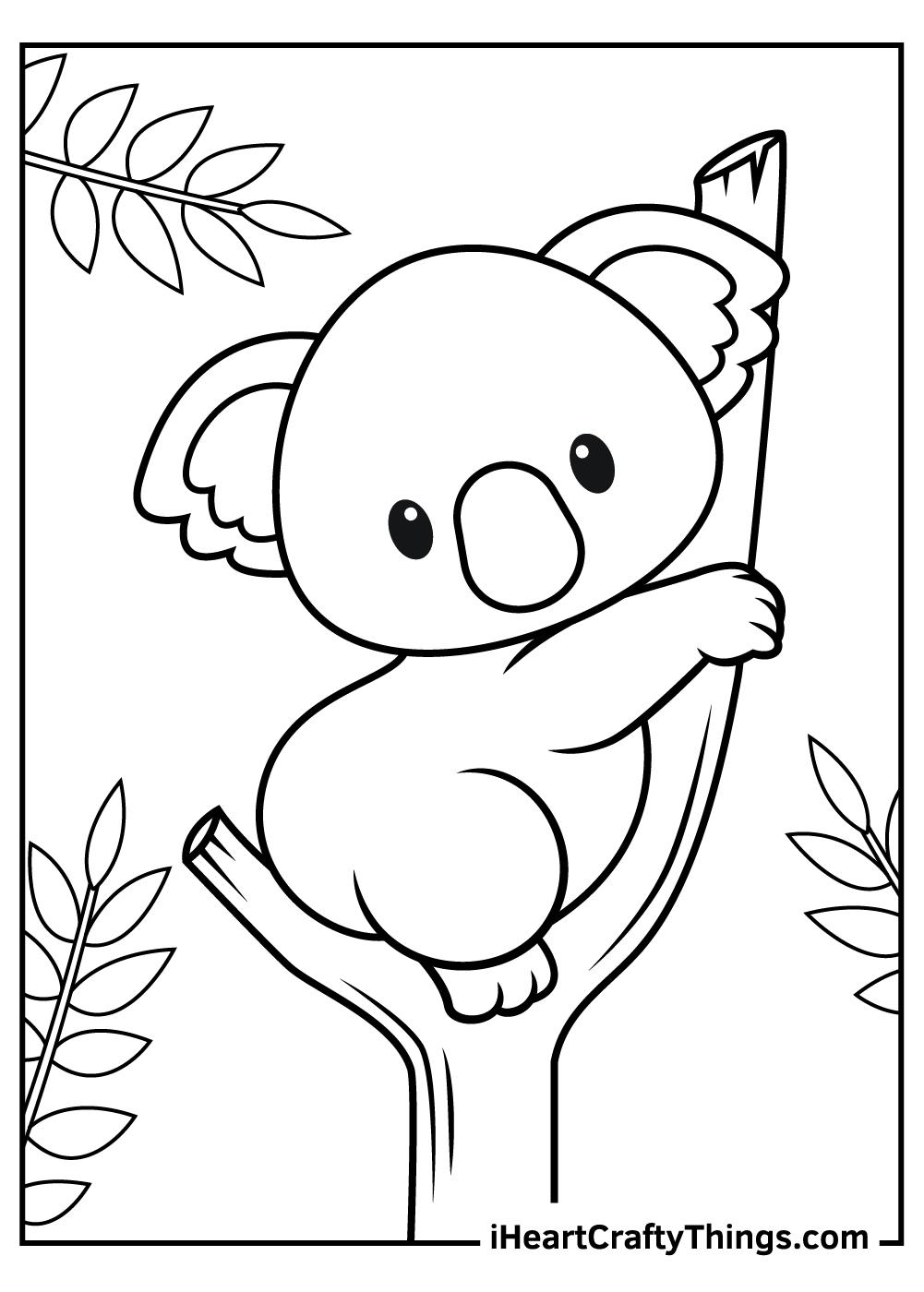 cute koala baby coloring free sheets