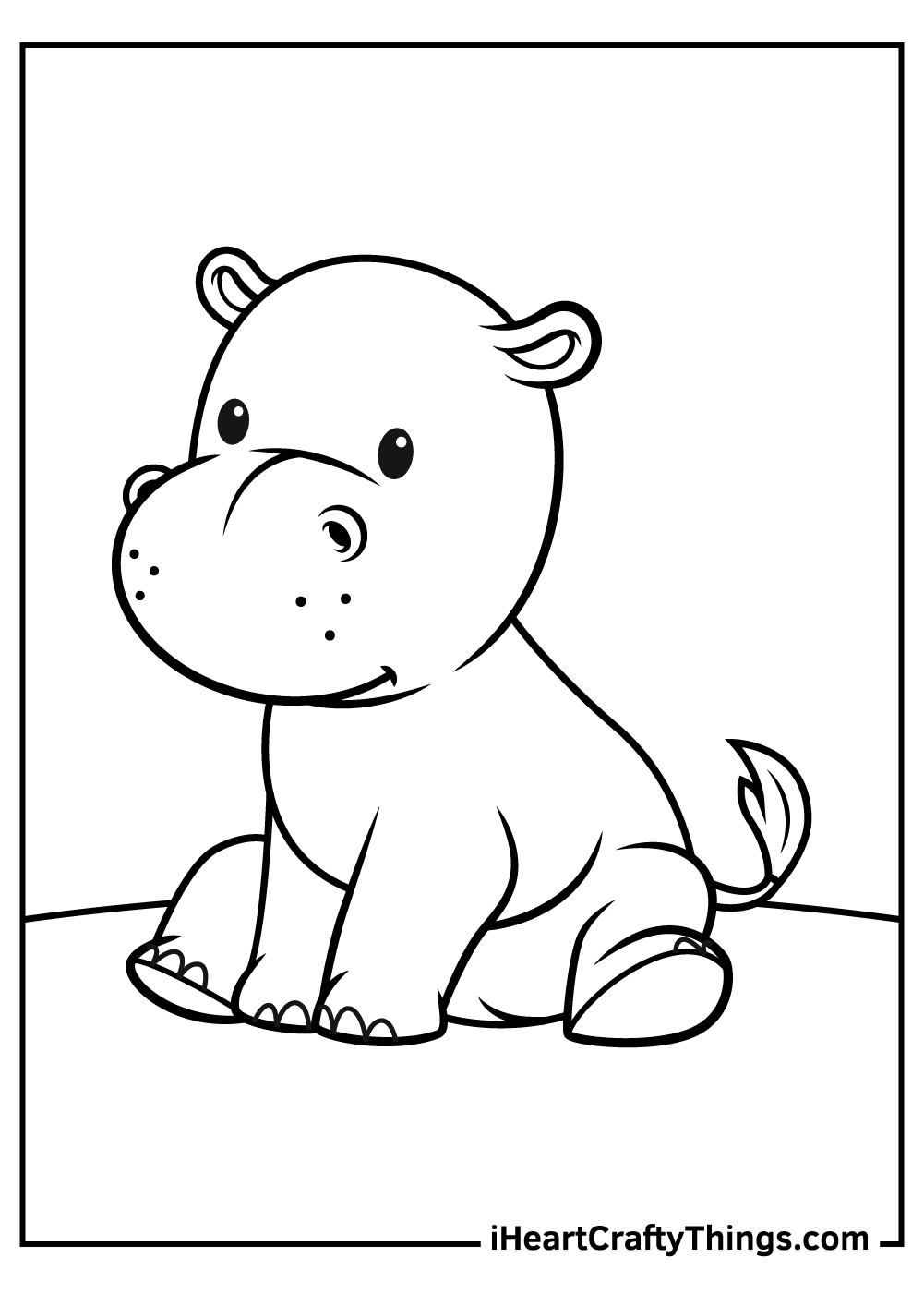 cute baby hippo coloring pages free printables