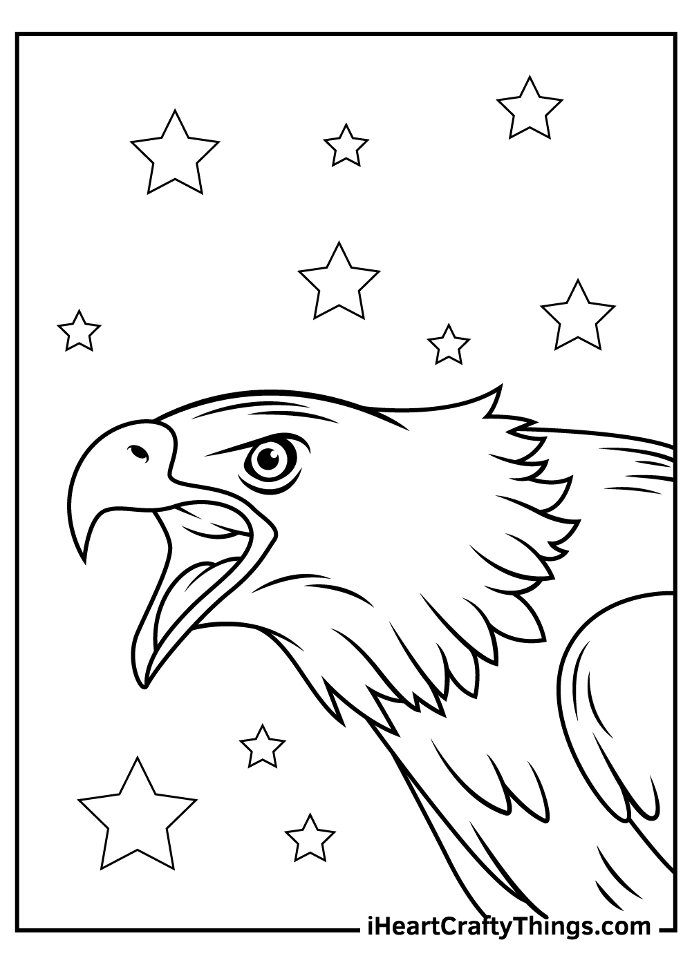 american bald eagle coloring pages