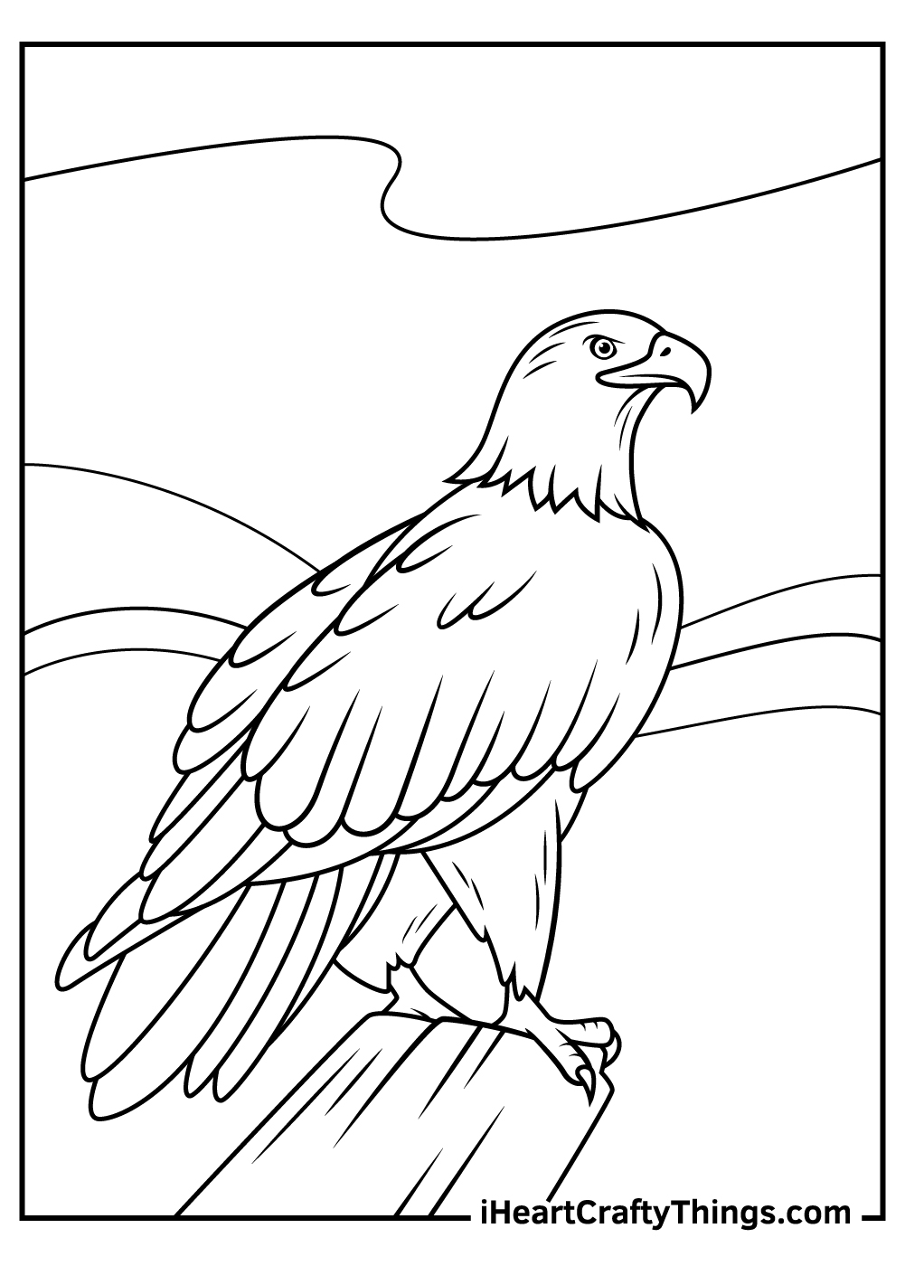bald eagle coloring pages printable free
