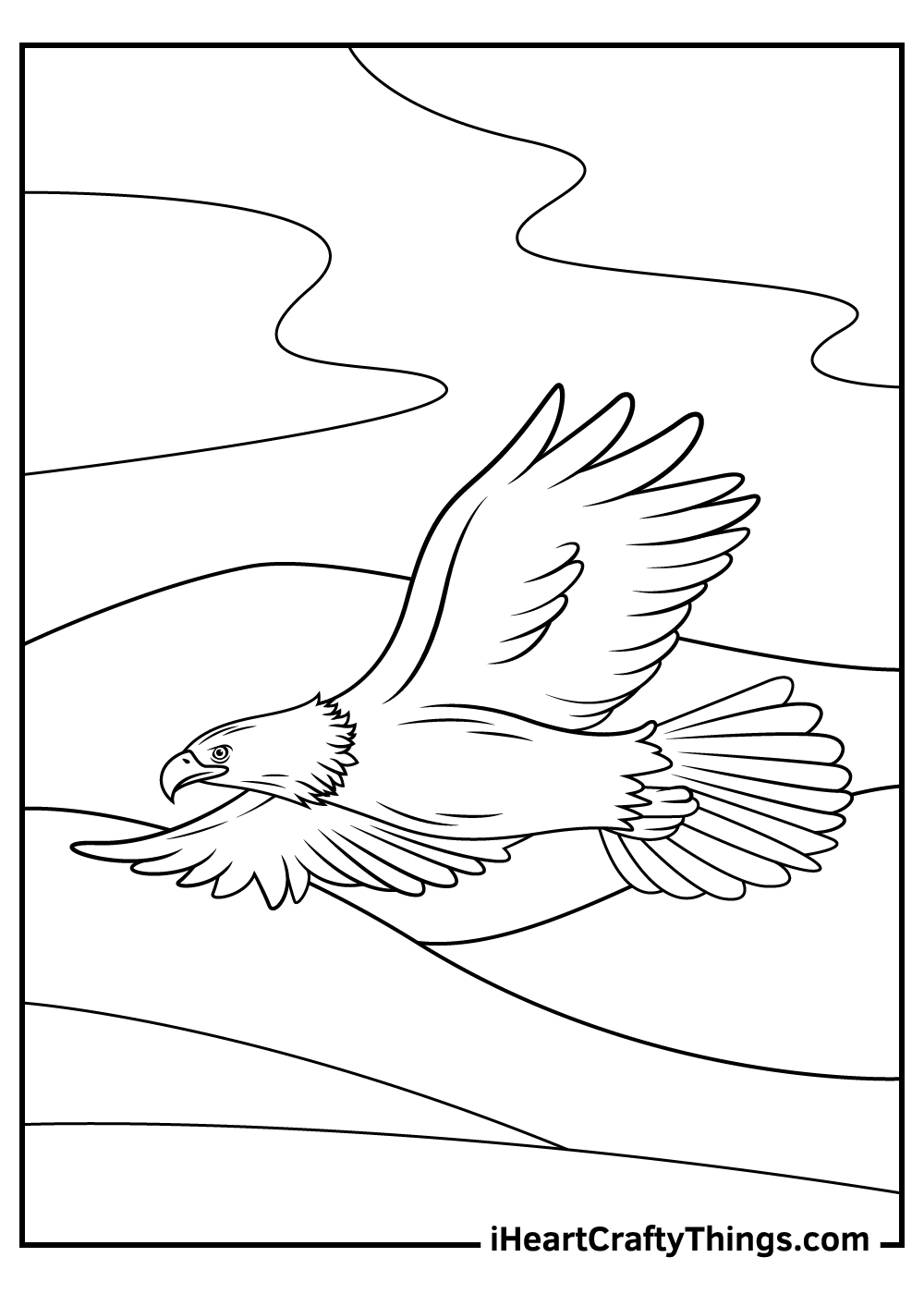 realistic bald eagle coloring pages