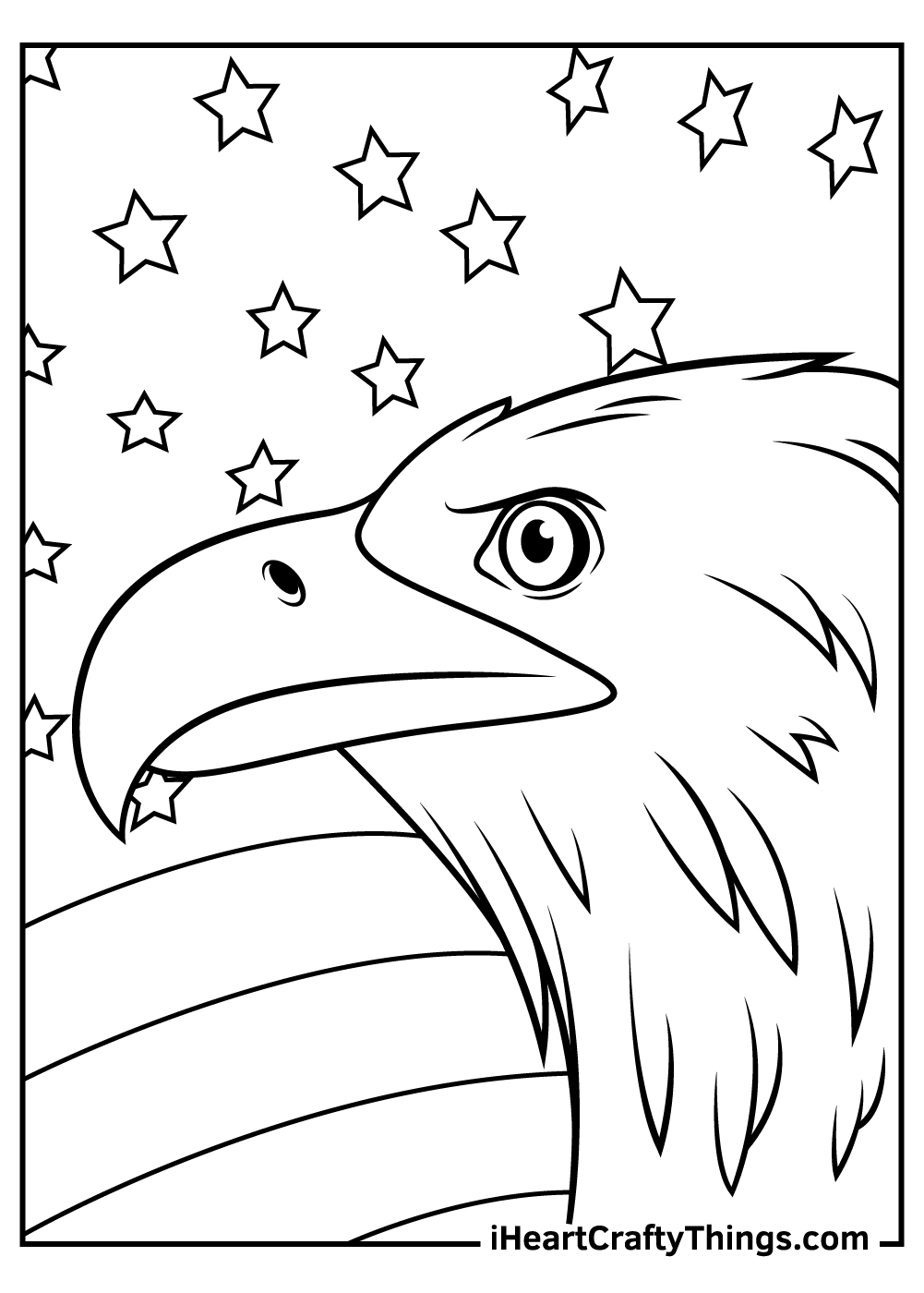 cartoon bald eagle coloring pages
