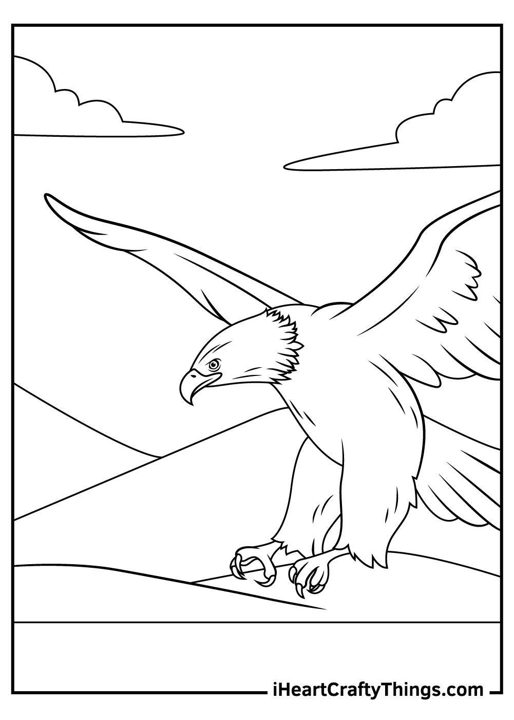 bald eagle coloring pages adult