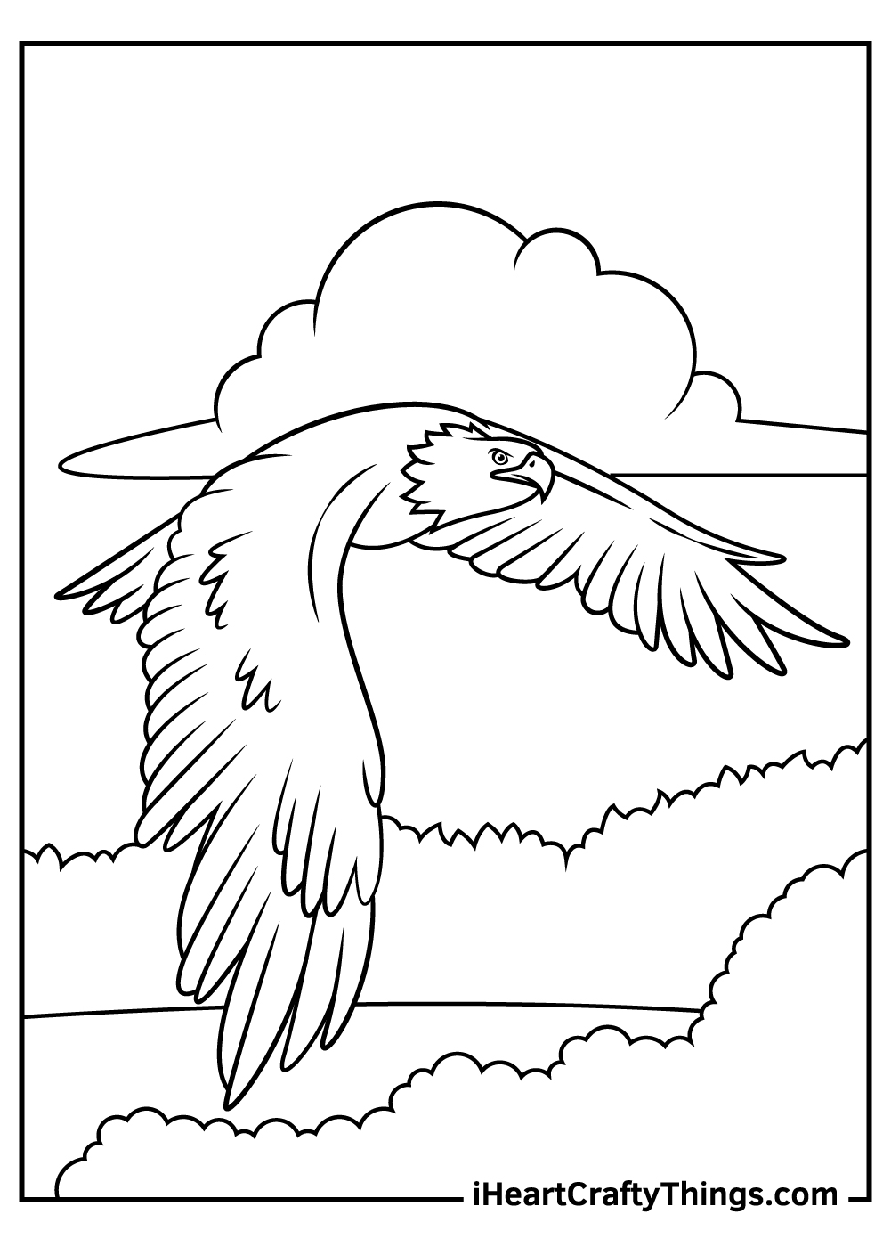 bald eagle coloring pages free to print out