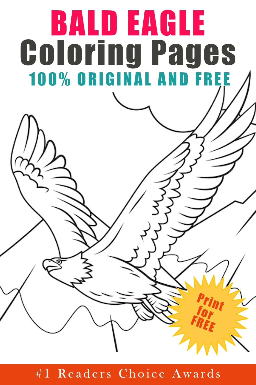 original bald eagle coloring pages free printable