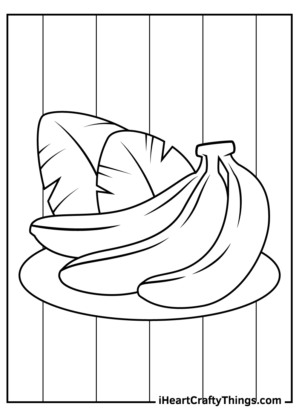 apples and bananas coloring pages free download