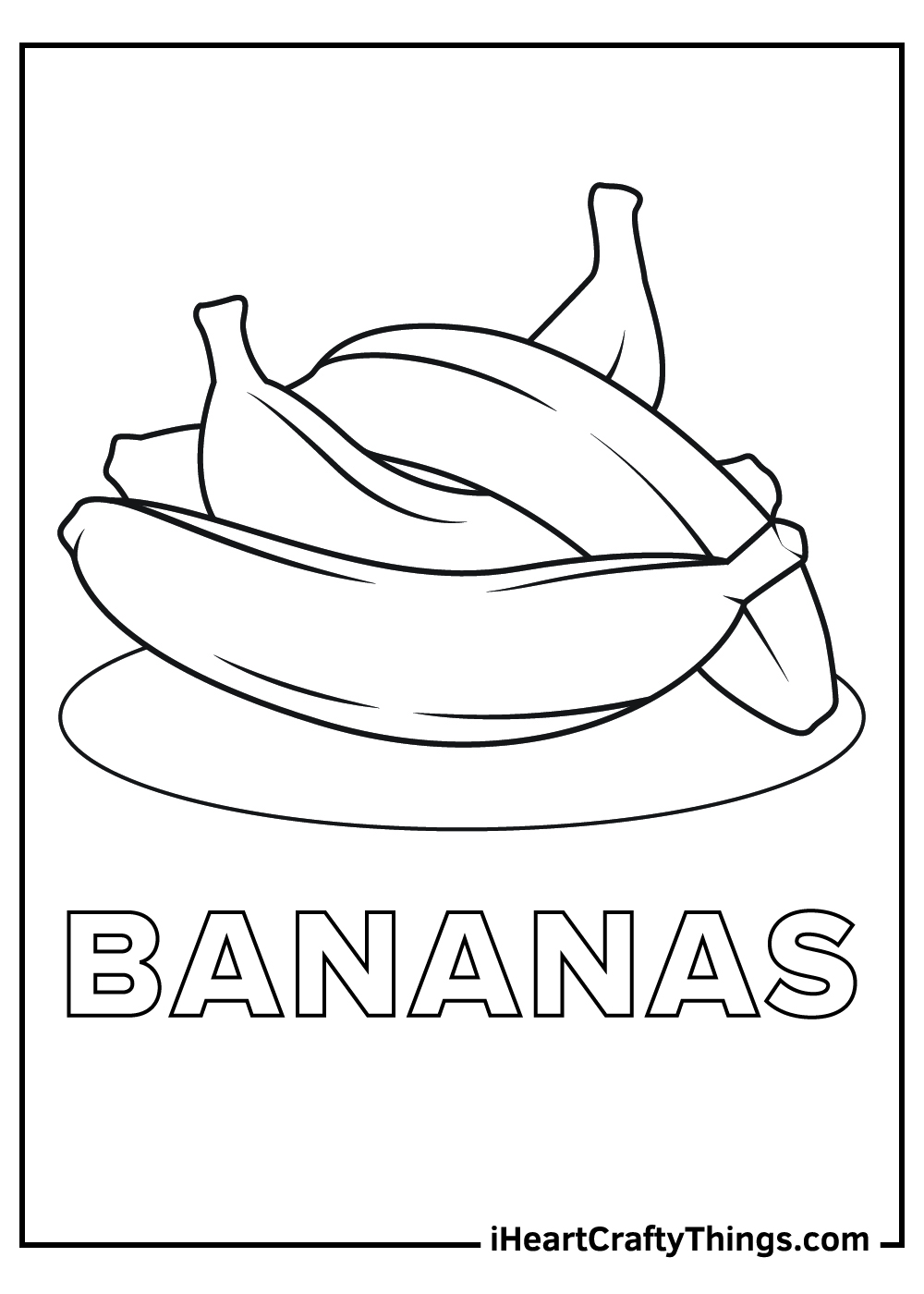 bananas coloring pagesfor kids free printable
