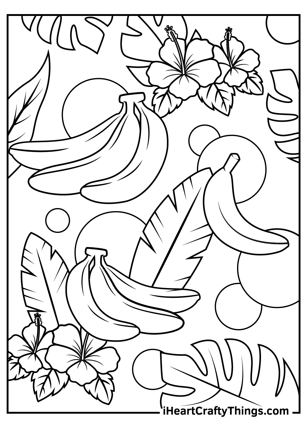 banana fruit coloring pages free