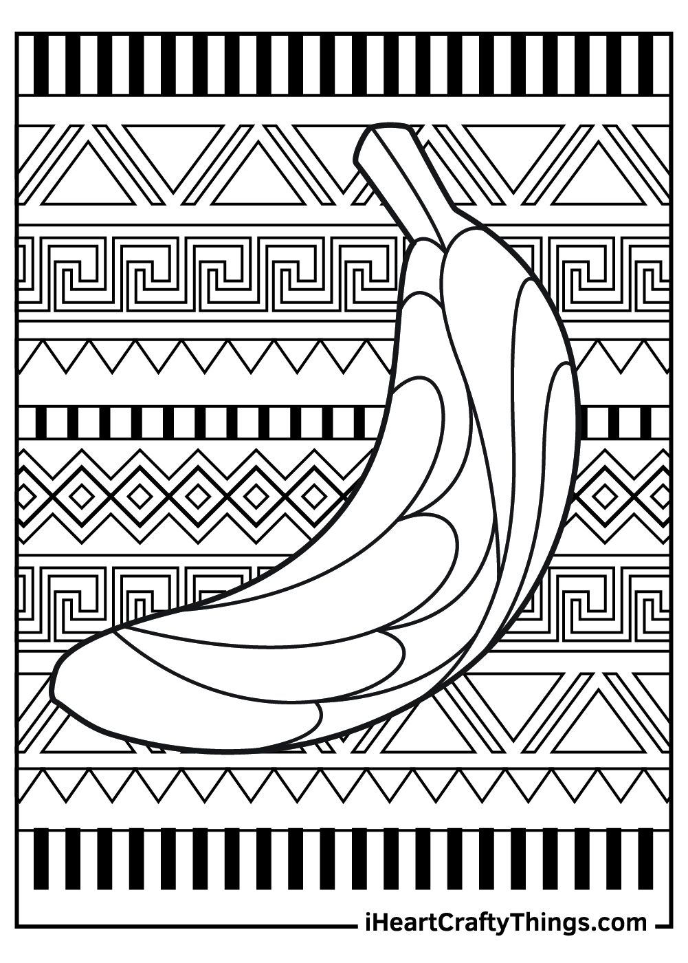 artistic banana coloring pages free download
