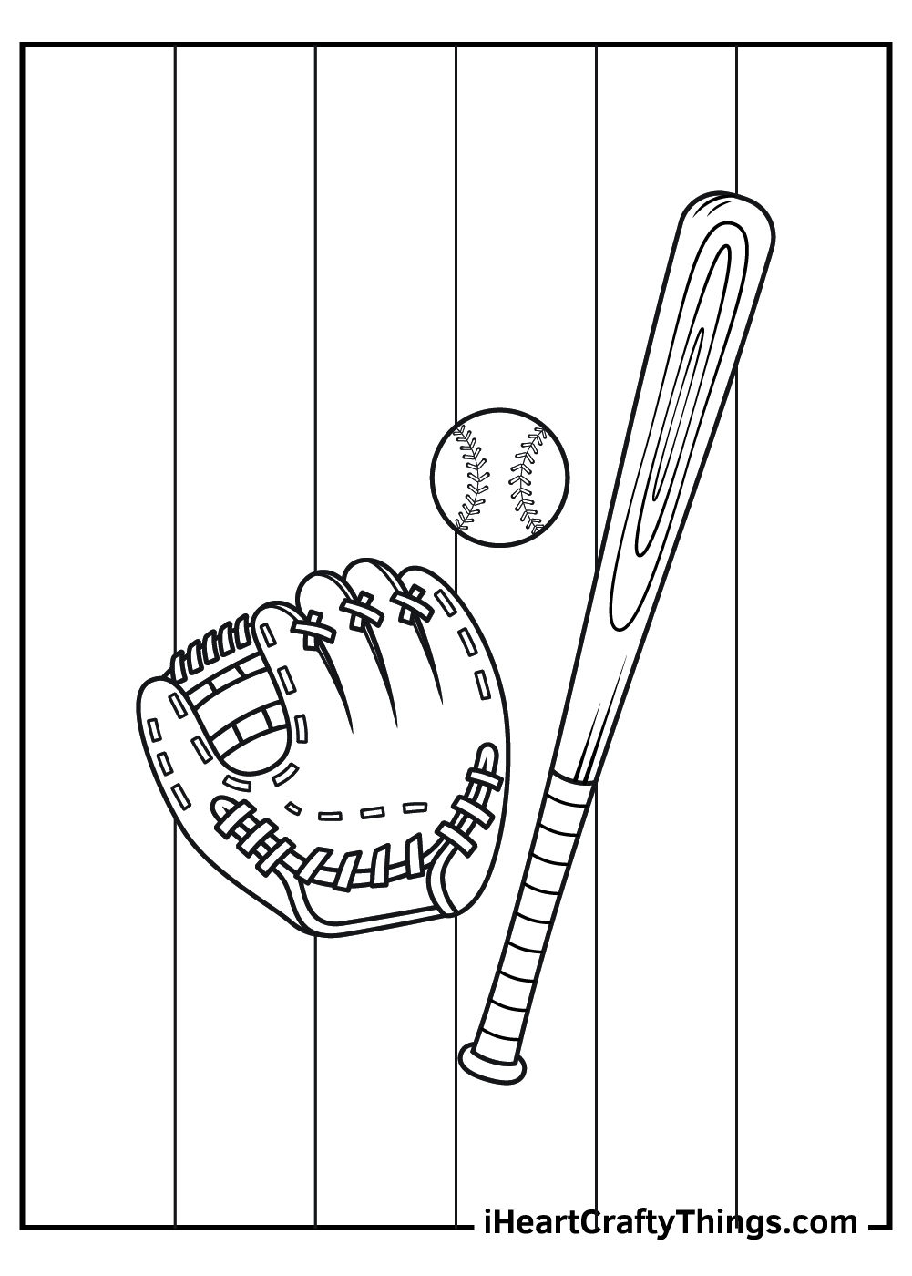 baseball coloring pages for kids free