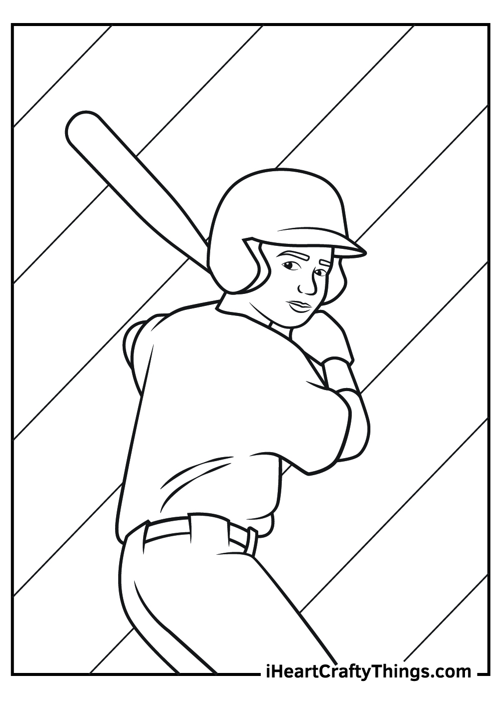 baseball player coloring pages for adults printable