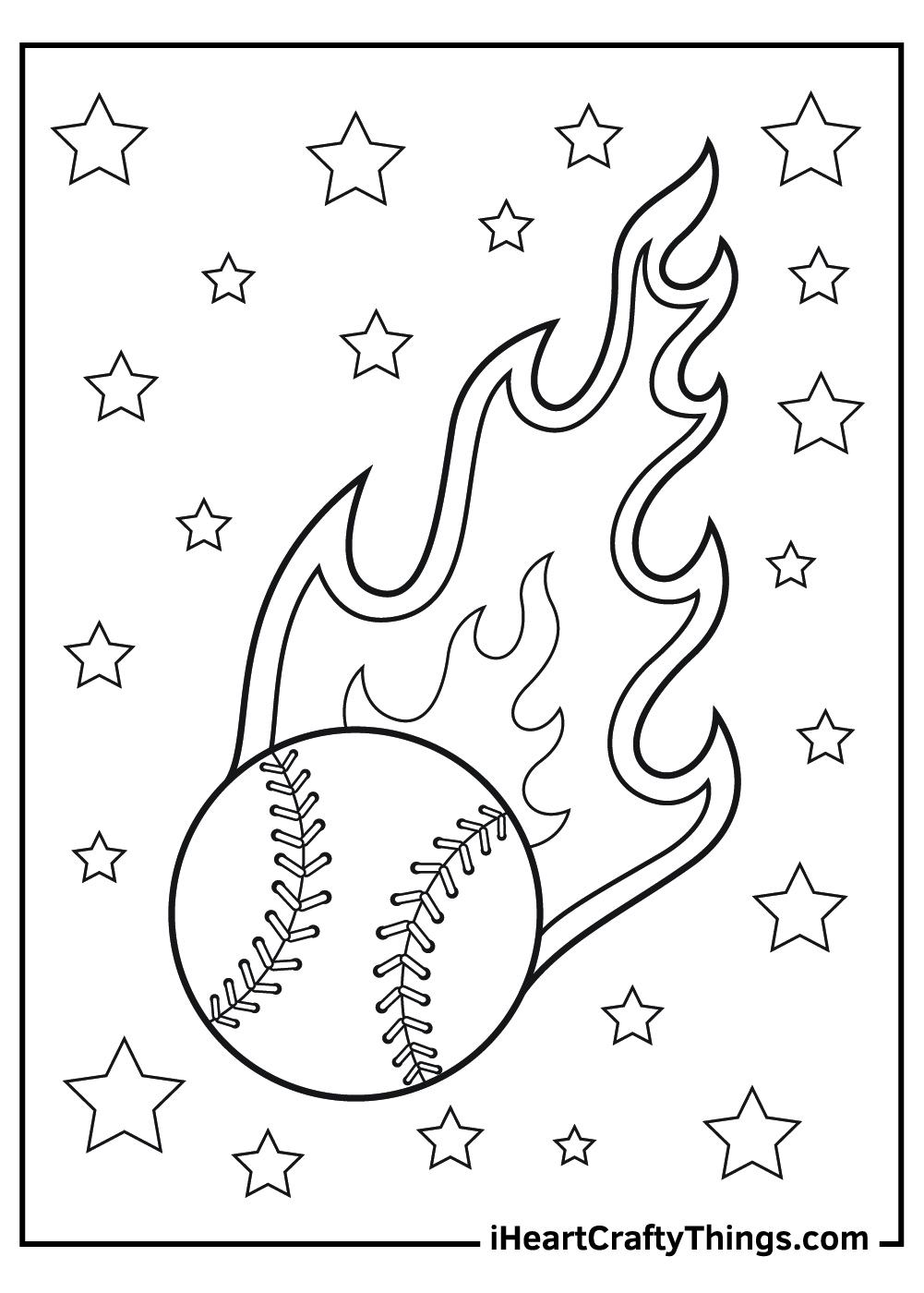 baseball coloring pages free printable