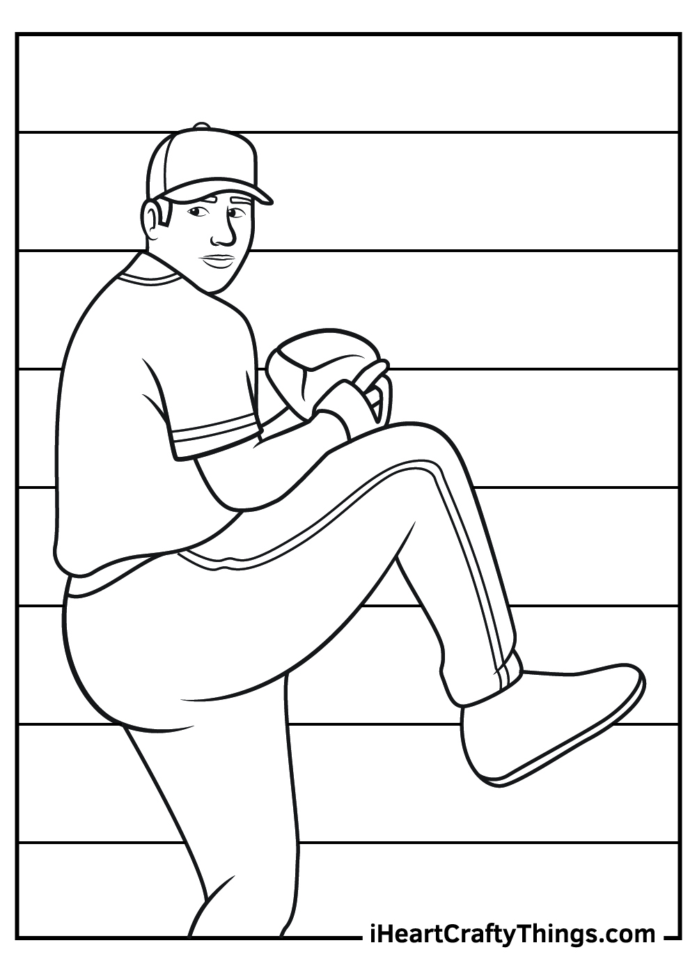 baseball player coloring pages free download