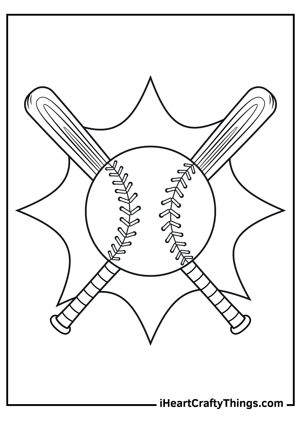 free baseball coloring pages