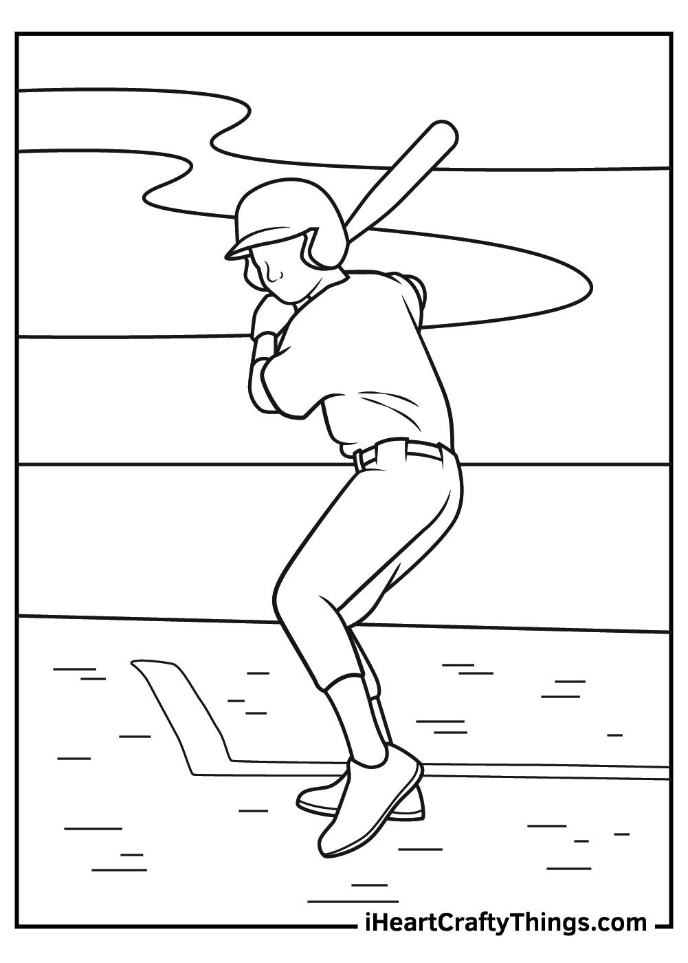 printable baseball player coloring pages