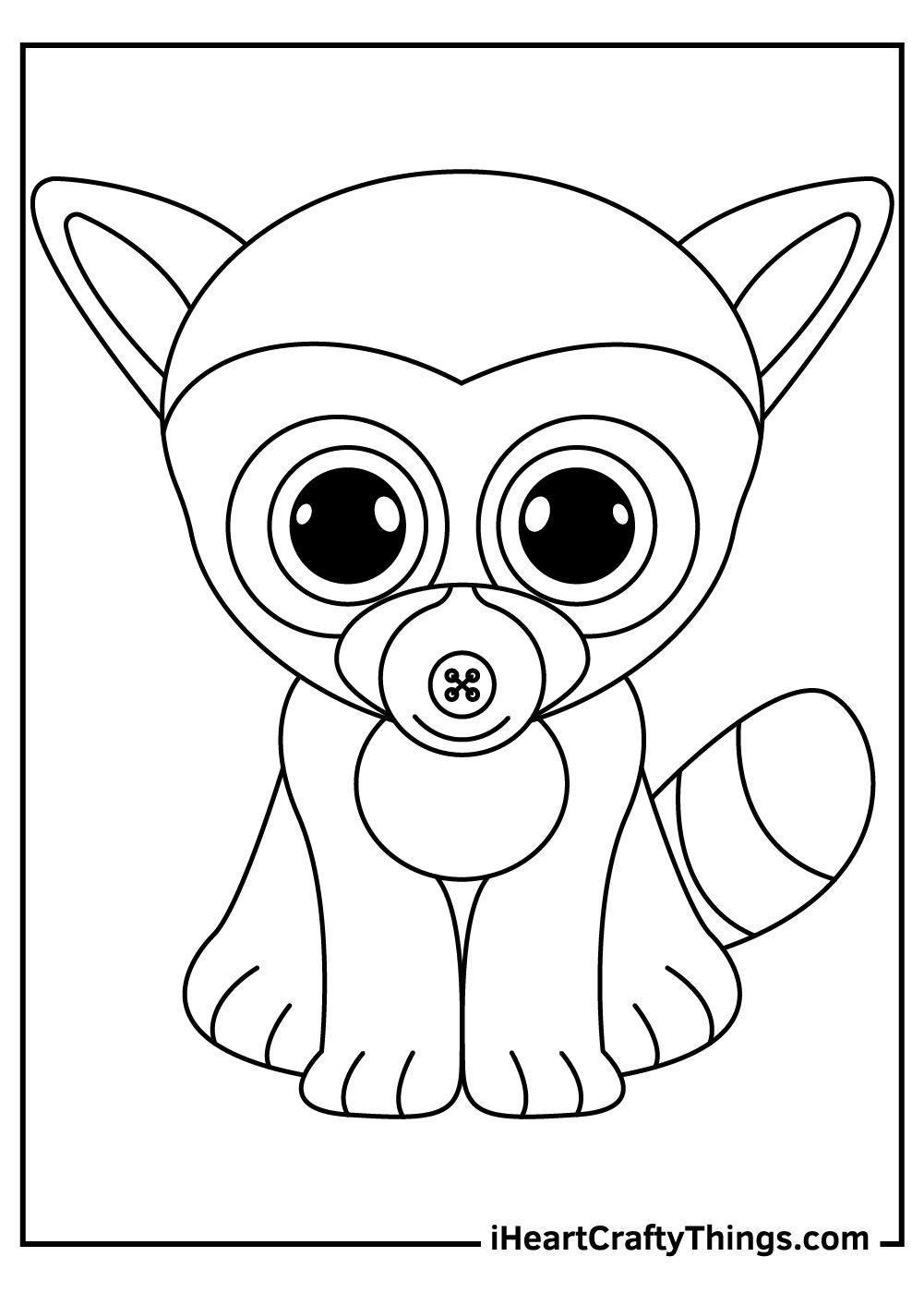 lemur beanie boos coloring pages free printables