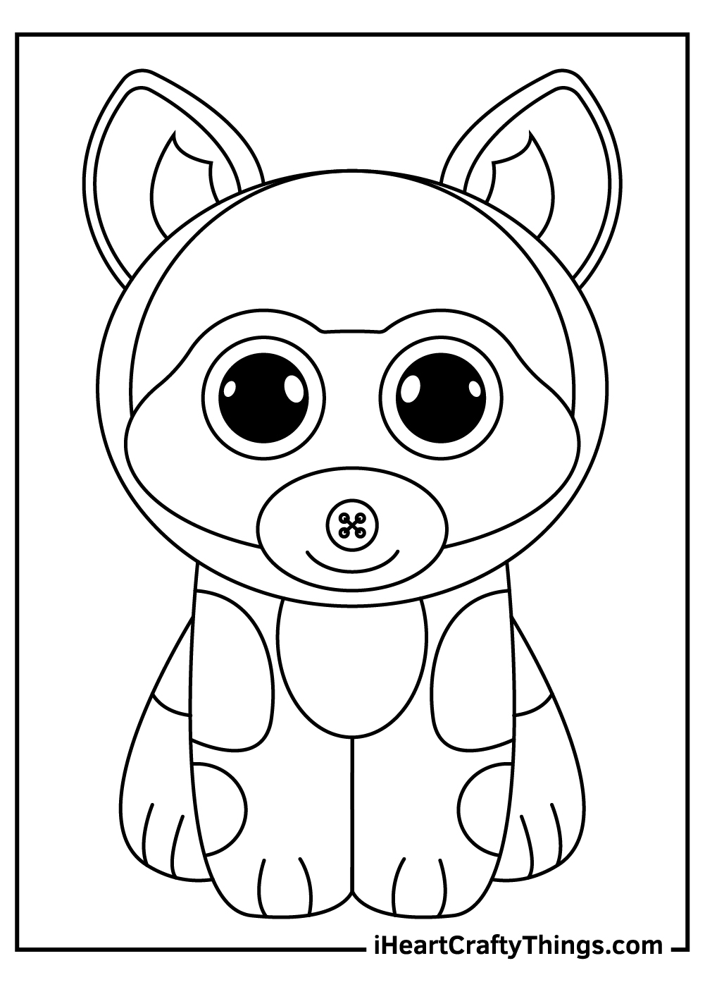 cute beanie boos coloring pages free download