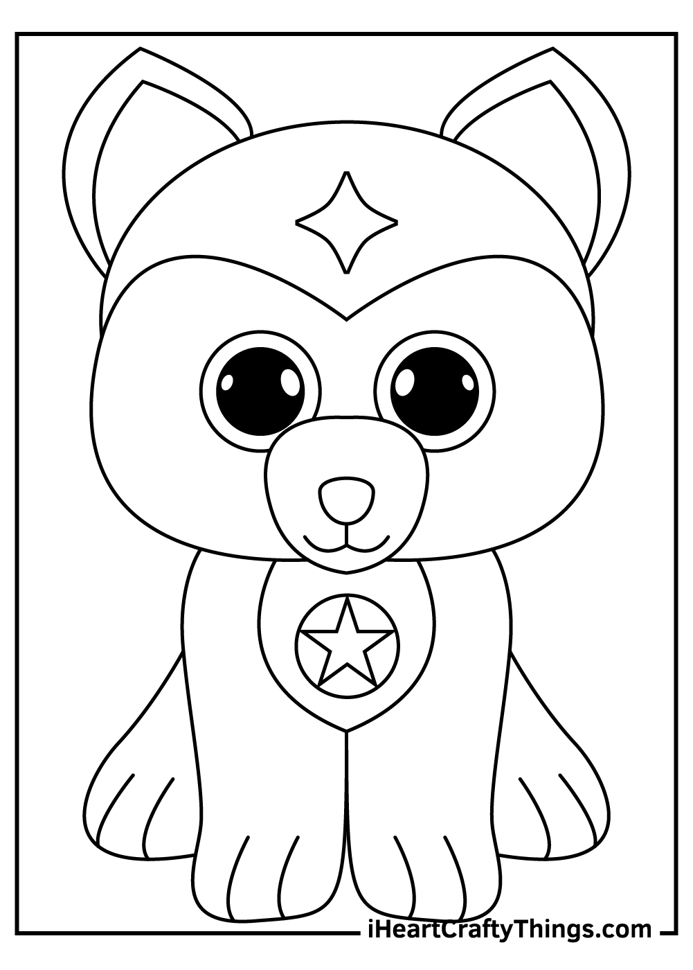 puppy beanie boos coloring pages free pdf