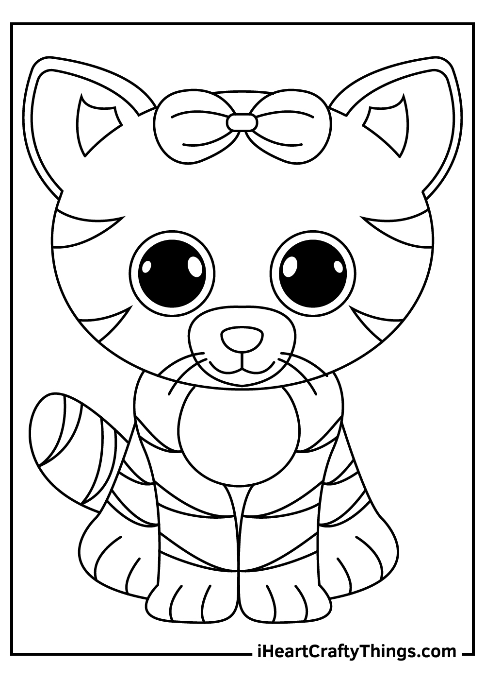 tiger beanie boos coloring pages free printables