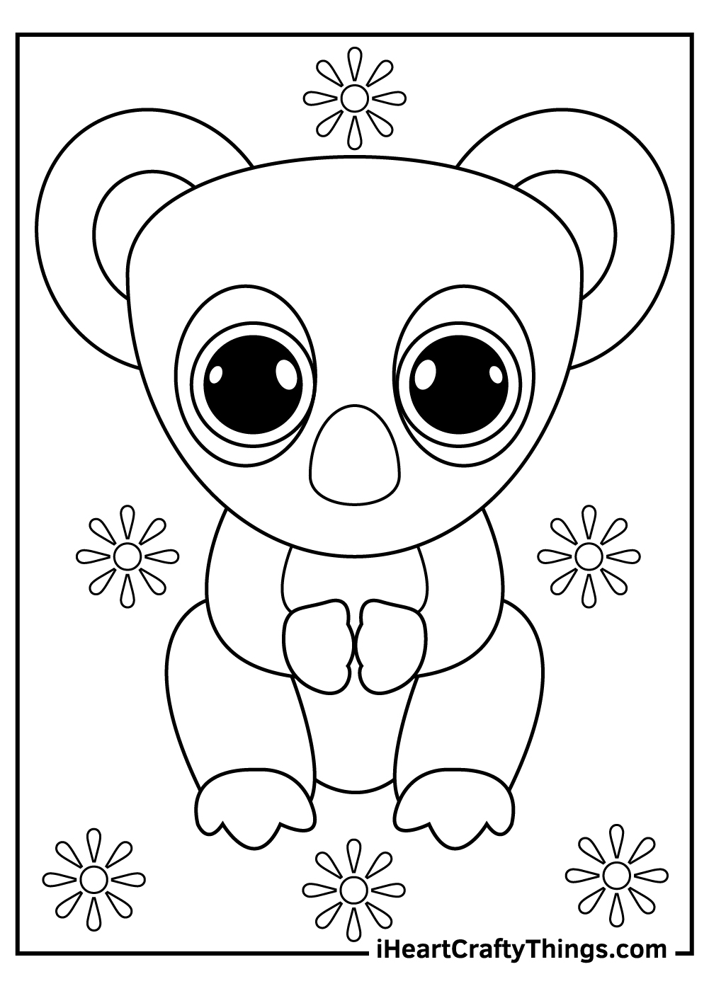 koala beanie boos coloring pages free printables