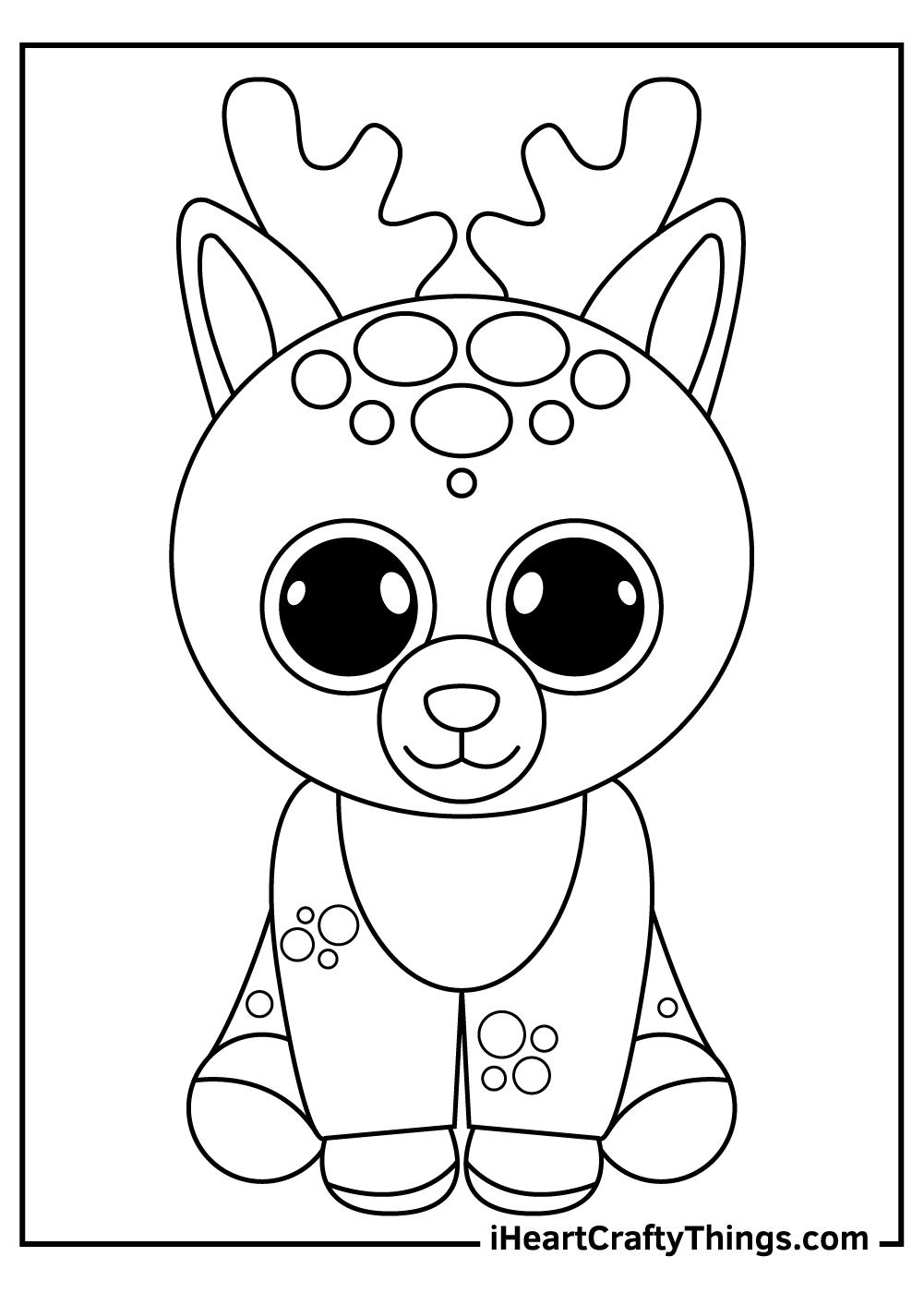 deer beanie boos coloring pages free printables