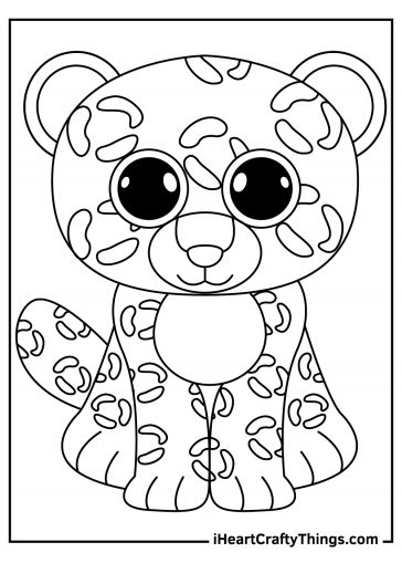 beanie boos coloring image