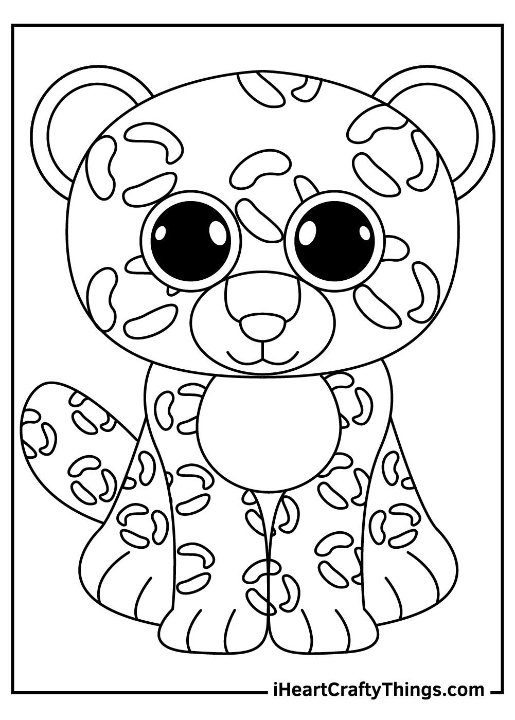 leopard beanie boos coloring pages free download
