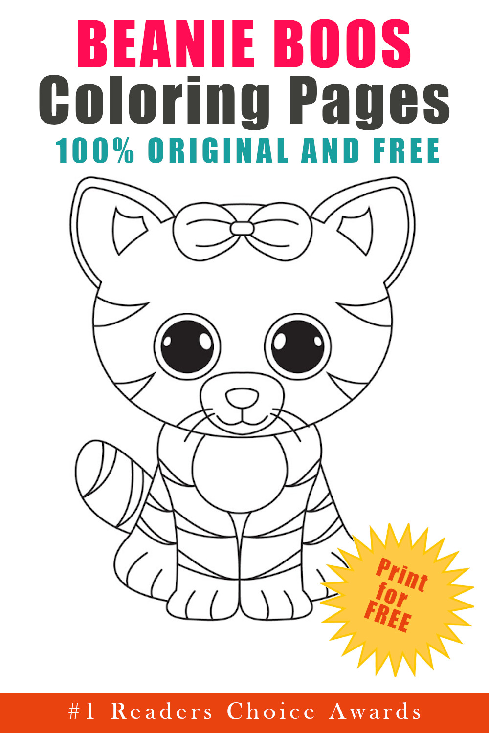 original and free beanie boos coloring pages