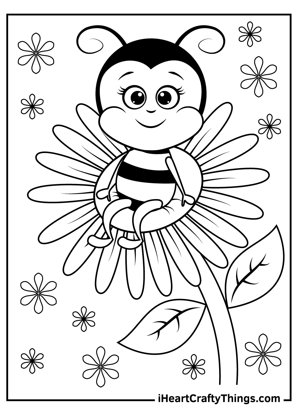 bee coloring pages for adults free printable