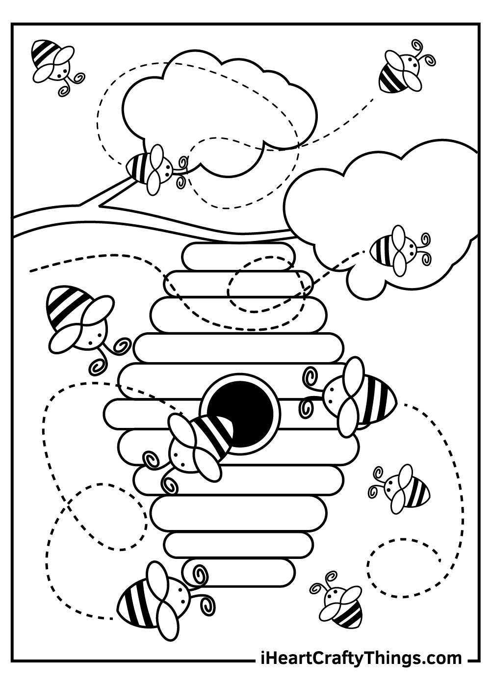 adventurer busy bee coloring pages