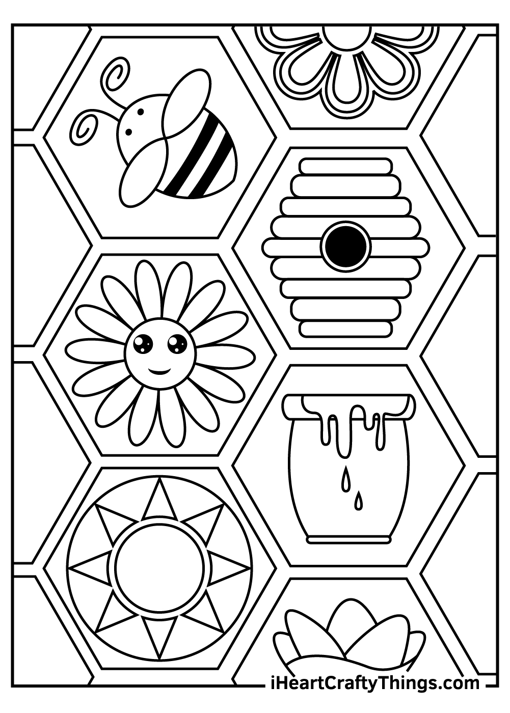 preschool bee coloring pages free printables