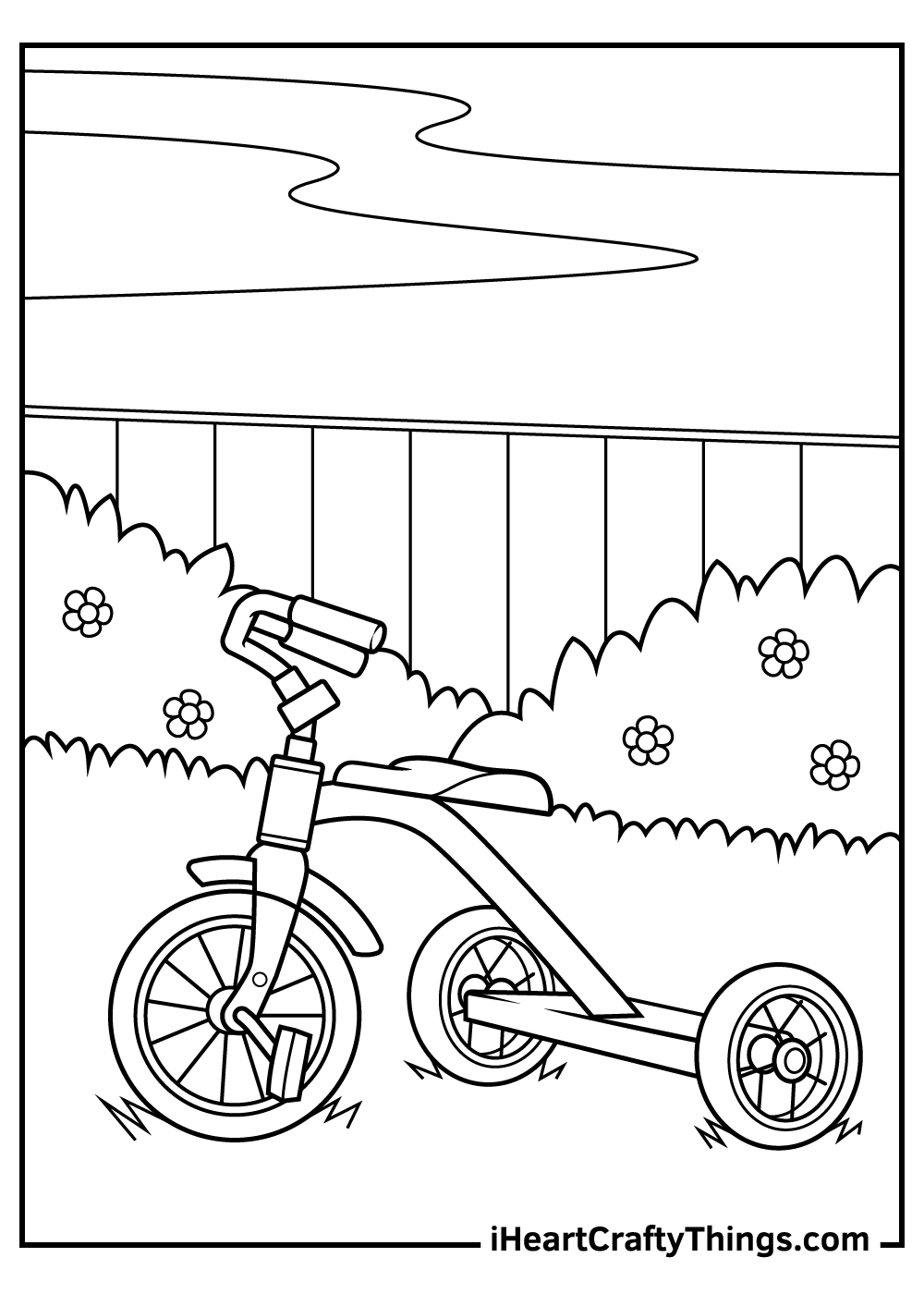 free bicycle coloring pages