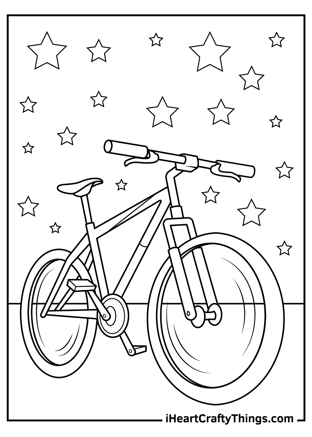 realistic bicycle coloring pages free printable