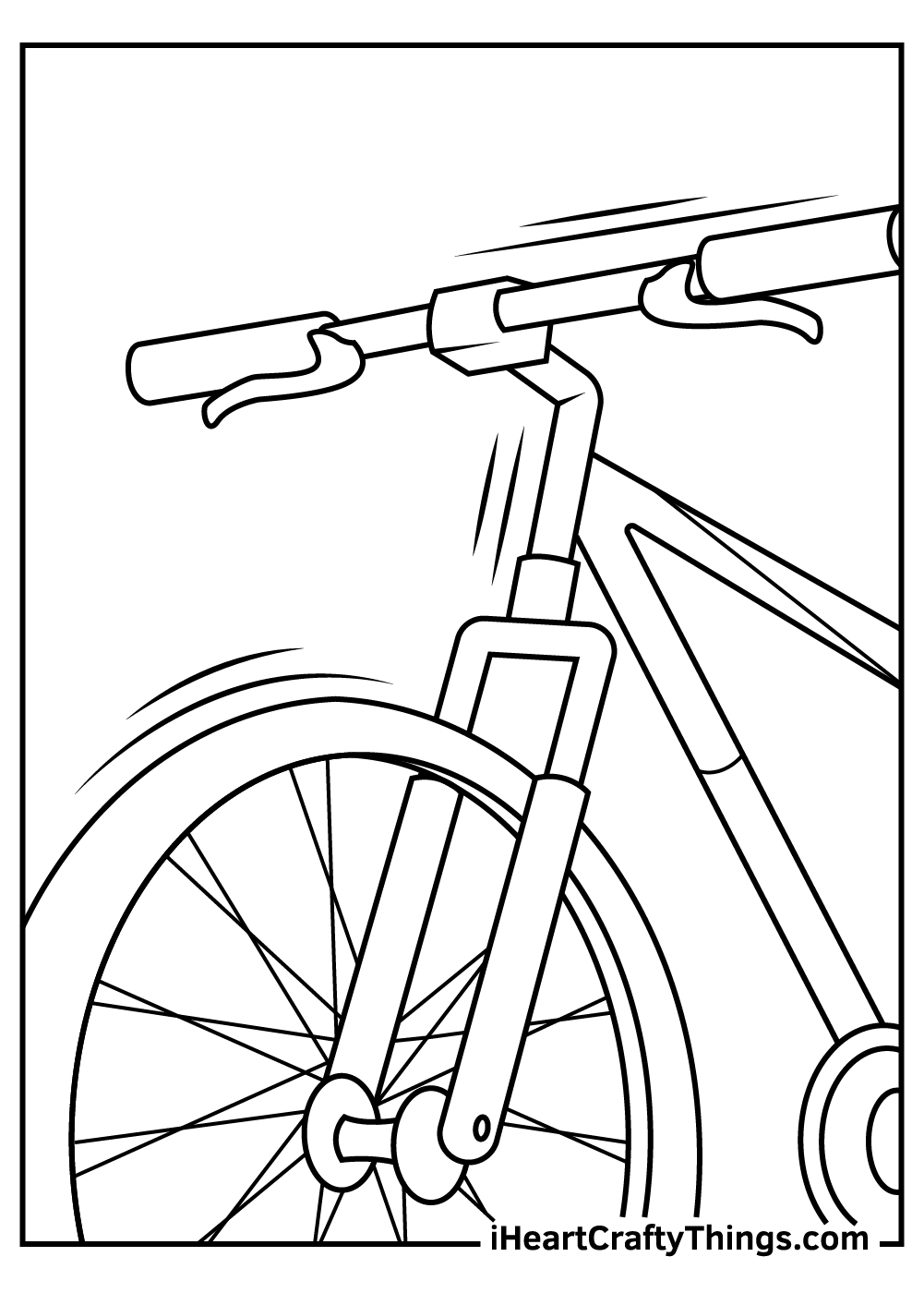black and white free bicycle coloring pages pdf